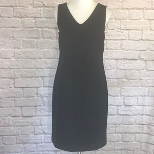 Talbots Black V-neck sheath dress size MP